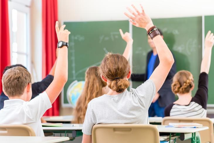 Klasserom med elever