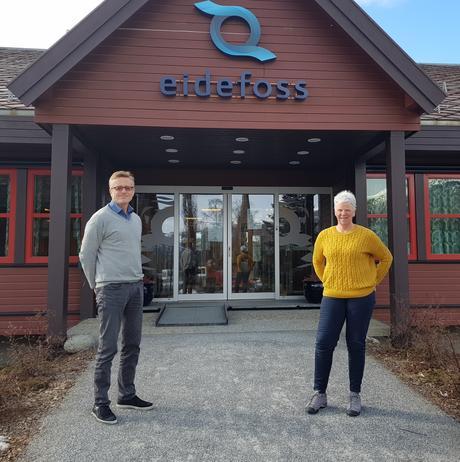 Adm.direktør Hans Kolden og Styreleder Grete Sjugard