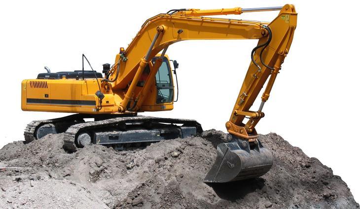 Bilde av gravemaskin